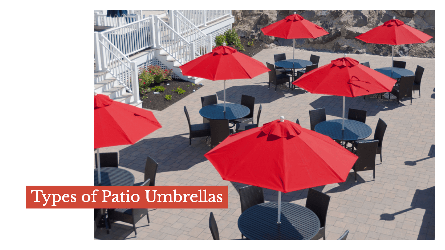 Types of Patio Umbrellas