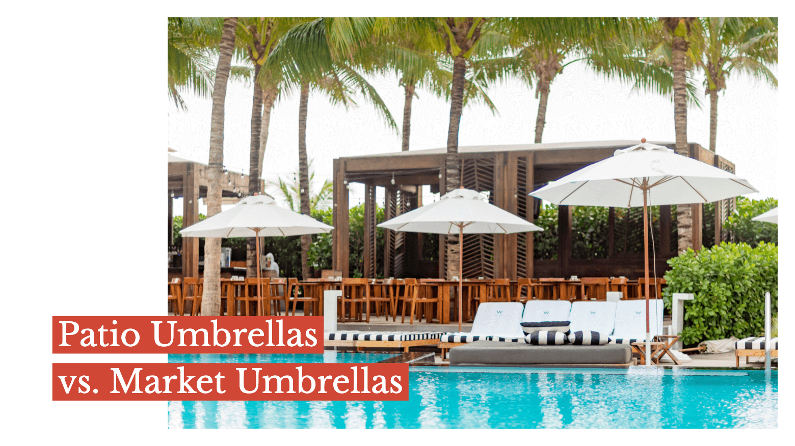 Patio Umbrellas vs. Market Umbrellas