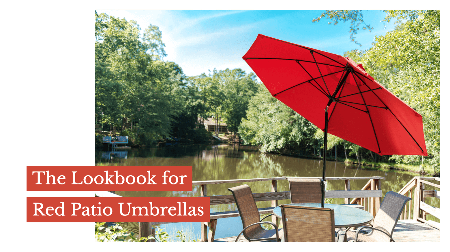 The Lookbook for Red Patio Umbrellas