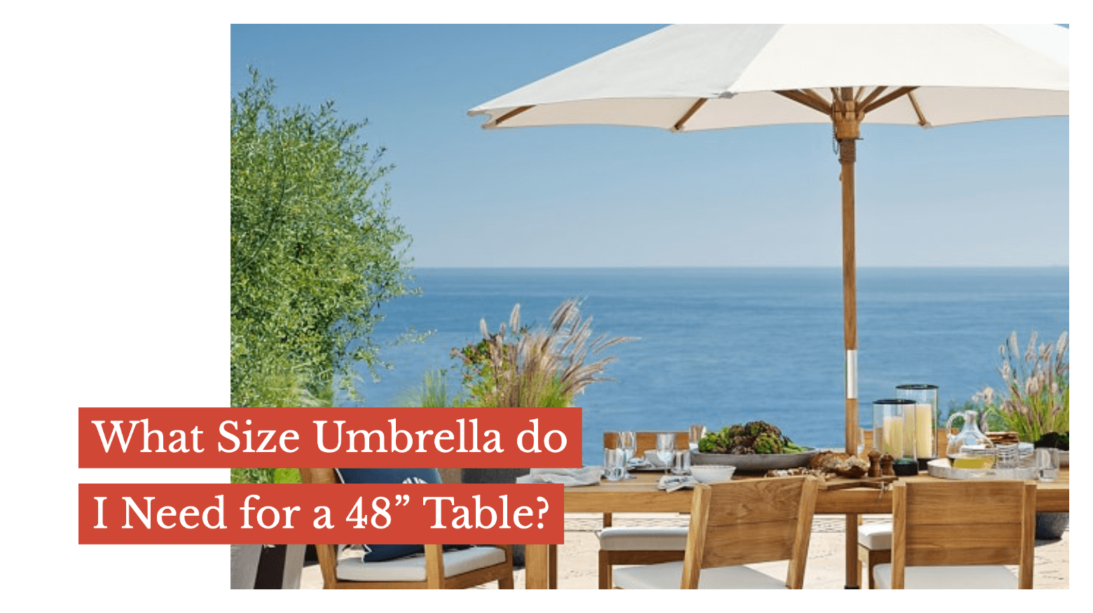 "What Size Umbrella do I need for a 48"" Table?"