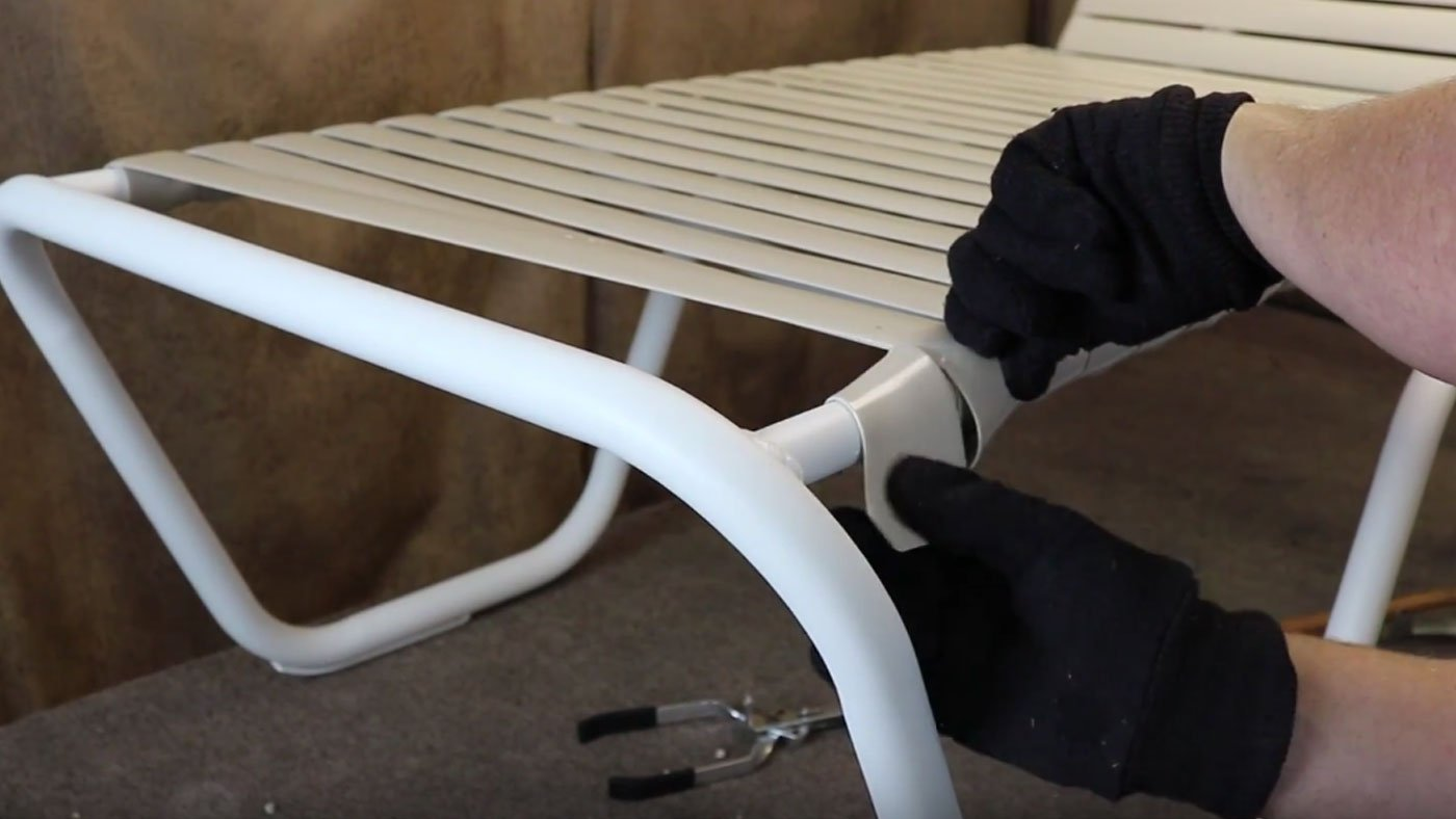Outdoor Furniture Repair How To Fix A Vinyl Strap On A Lounge Chair