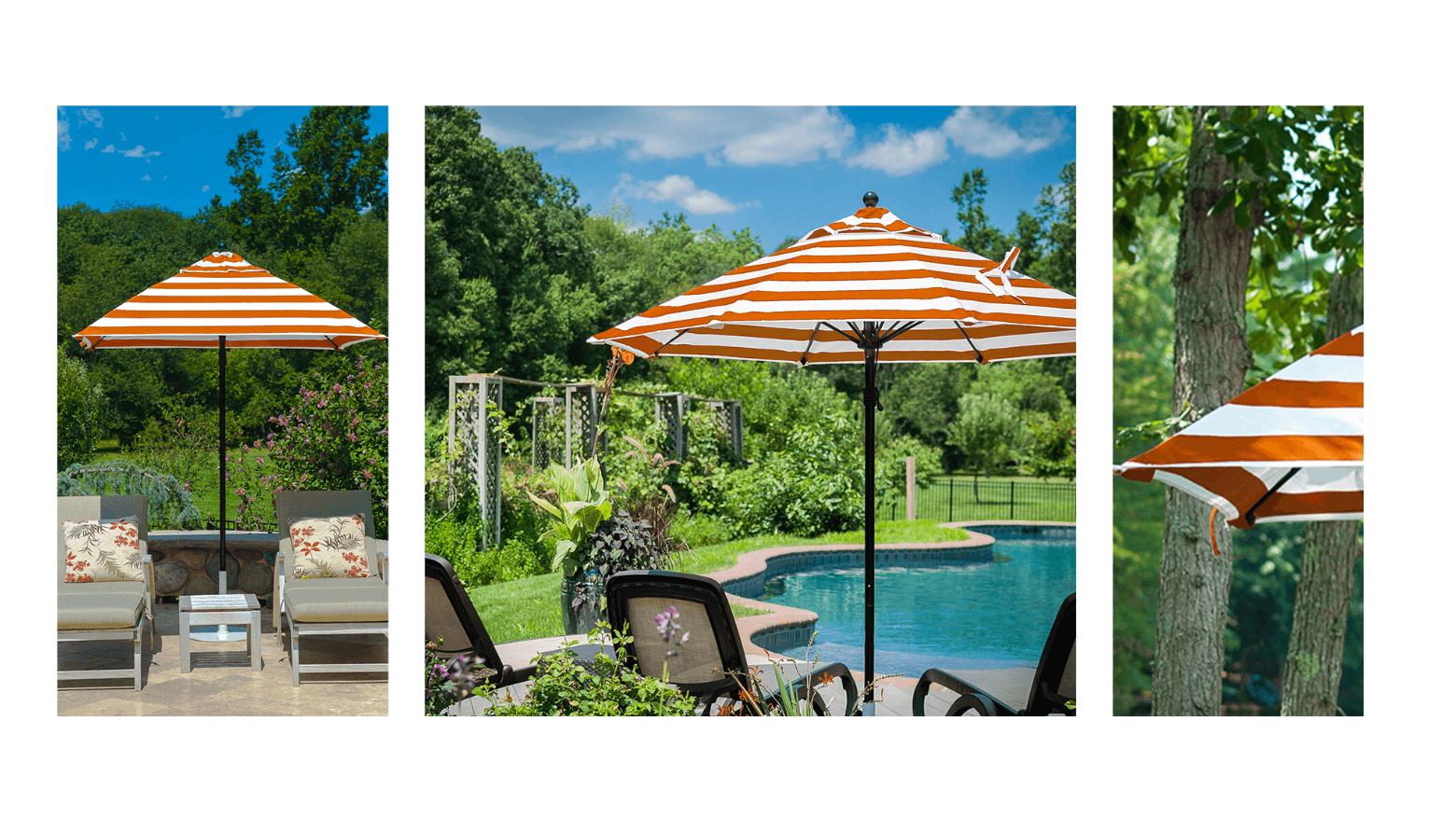 orange patio umbrella