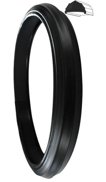 "8"" Black Vinyl Tire (Set of 2) - Fits 8"" O. D. Rim 