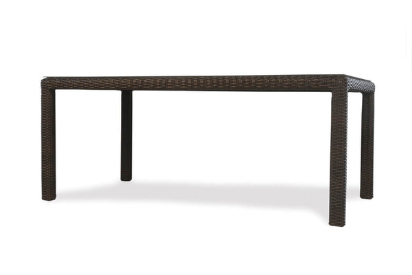 "Lloyd Flanders Mesa 72"" Rectangular Umbrella Dining Table- Item 298072"