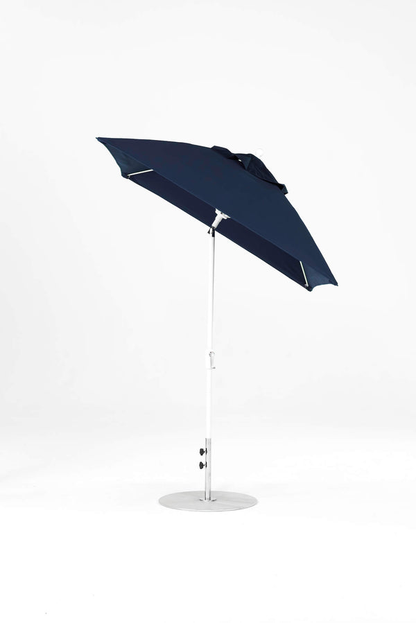 Monterey Crank Lift Auto-Tilt Umbrella | Square | White Frame