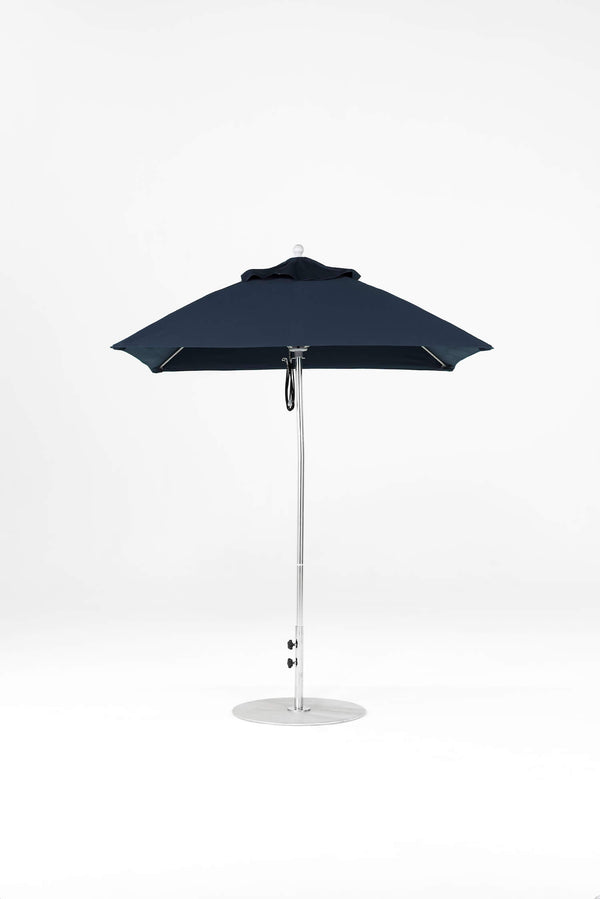 Monterey Pulley Lift Umbrella | Square | Polished Silver Frame
