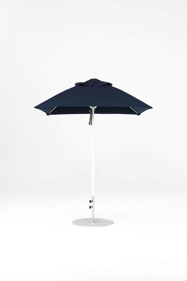 Monterey Pulley Lift Umbrella | Square | White Frame
