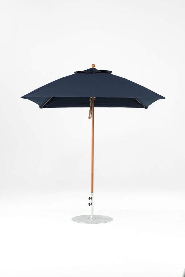 Monterey Pulley Lift Umbrella | Square | Woodgrain Frame
