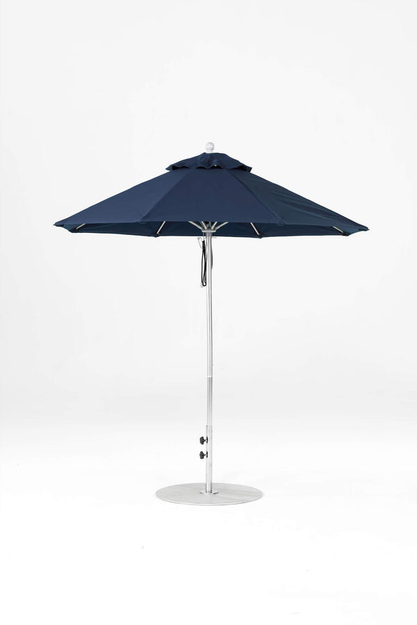 Monterey Pulley Lift Umbrella | Octagonal | Polished Silver Frame
