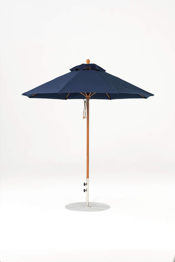 Monterey Pulley Lift Umbrella | Octagonal | Woodgrain Frame