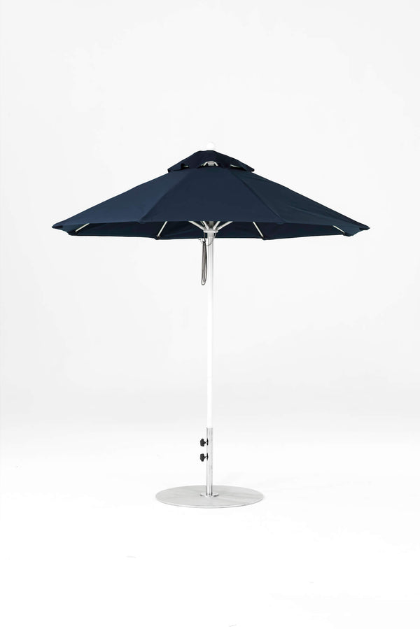Monterey Pulley Lift Umbrella | Octagonal | White Frame
