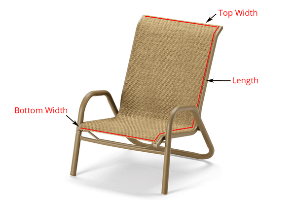 1 Piece Custom Chair Replacement Sling Item Ccs 1pc