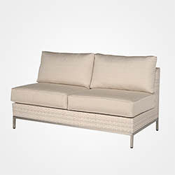 Cannes sectional 4 pc loveseat replacement cushion, Boxed w/welt, Item#: 2120