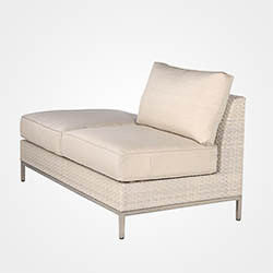 Cannes sectional 3 pc loveseat replacement cushion, Boxed w/welt, Item#: 2170