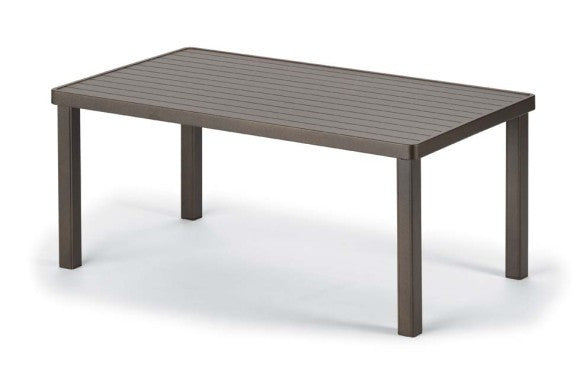 "Telescope Casual Aluminum Slat Top 24"" x 42"" Coffee Table 
