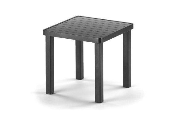 "Telescope Casual Aluminum Slat Top 18"" Square End Table 
