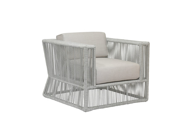 Miami Club Chair with cushions in Echo Ash
