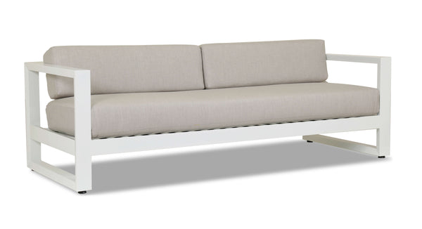 Newport Sofa with cushions in Cast Silver