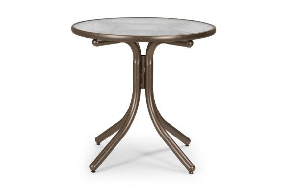 "Telescope Casual 30"" Round Glass Top Dining Height Table 
