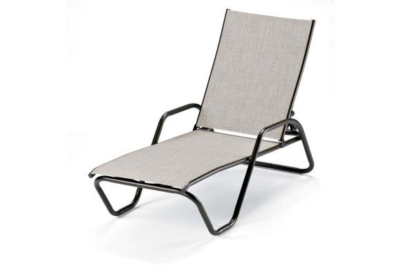 Telescope Casual Gardenella Sling Aluminum Stackable Chaise Lounge | 7620