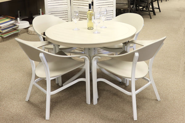 Beige Simple Dining Set