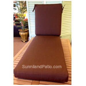 C29 - 2 Piece Chaise Cushion (Seat & Back), Item#: C-1077
