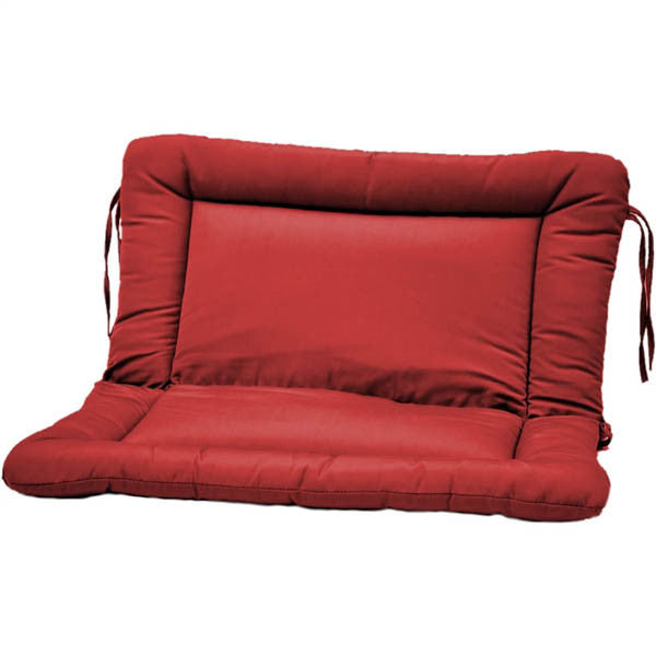 Settee Glider Euro Cushion: Fabric ties | Item#: C-311D