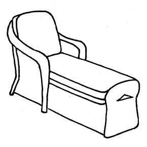 Empire Chaise Cushion - Seat & Back, Item#: C-41901