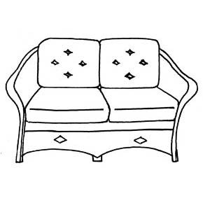 Giardino Loveseat Cushion - Seats & Backs, Item#: C-91021