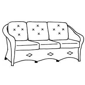 Giardino Sofa Cushion - Seats & Backs, Item#: C-91031