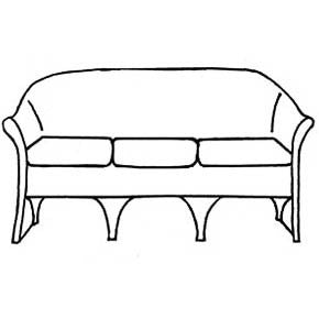 Tesoros Sofa Cushion - Seats Only, Item#: C-93031