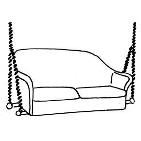 Loveseat Swing Cushion - Seats Only (2 pc.), Item#: C-93821