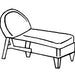 L.F. Heirloom Adjustable Chaise Cushion - Seat & Back, Item#: C-L1209