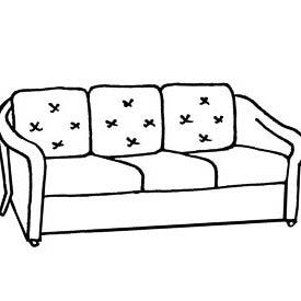 L.F. Reflections Sofa Cushion- Seats & Backs, Item#: C-L1215