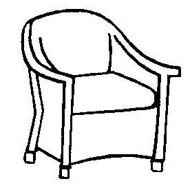 Embassy Dining Chair Cushion - Seat Only, Item#: C-L1216