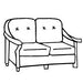 Embassy Loveseat Cushion- Seats & Backs, Item#: C-L1220