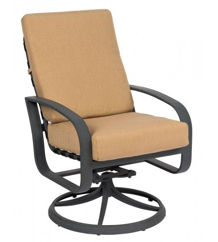 Cayman Isle Cushion Swivel Rocker Dining Arm Chair- Item 2E0466