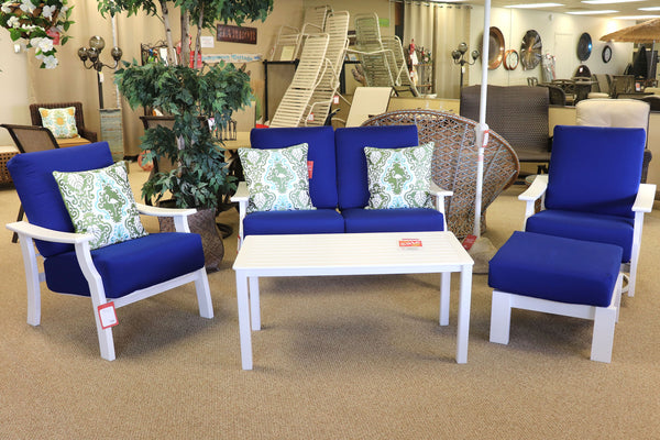 Electric Blue Conversation Patio Set