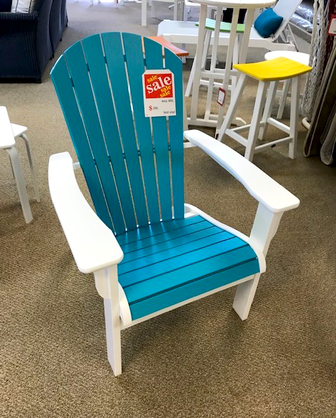 Bright Blue Adirondack Chair