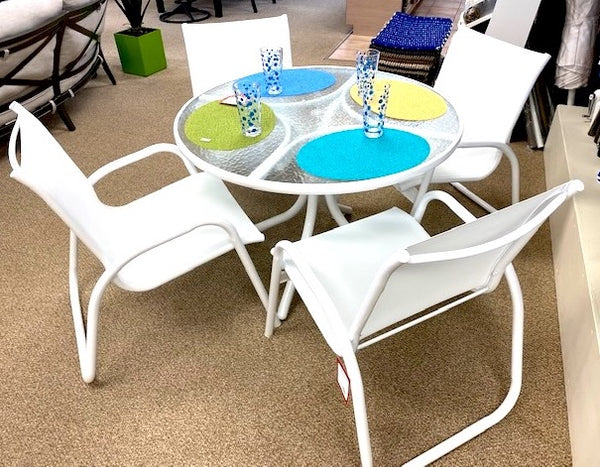 White Garden Sling Dining Set