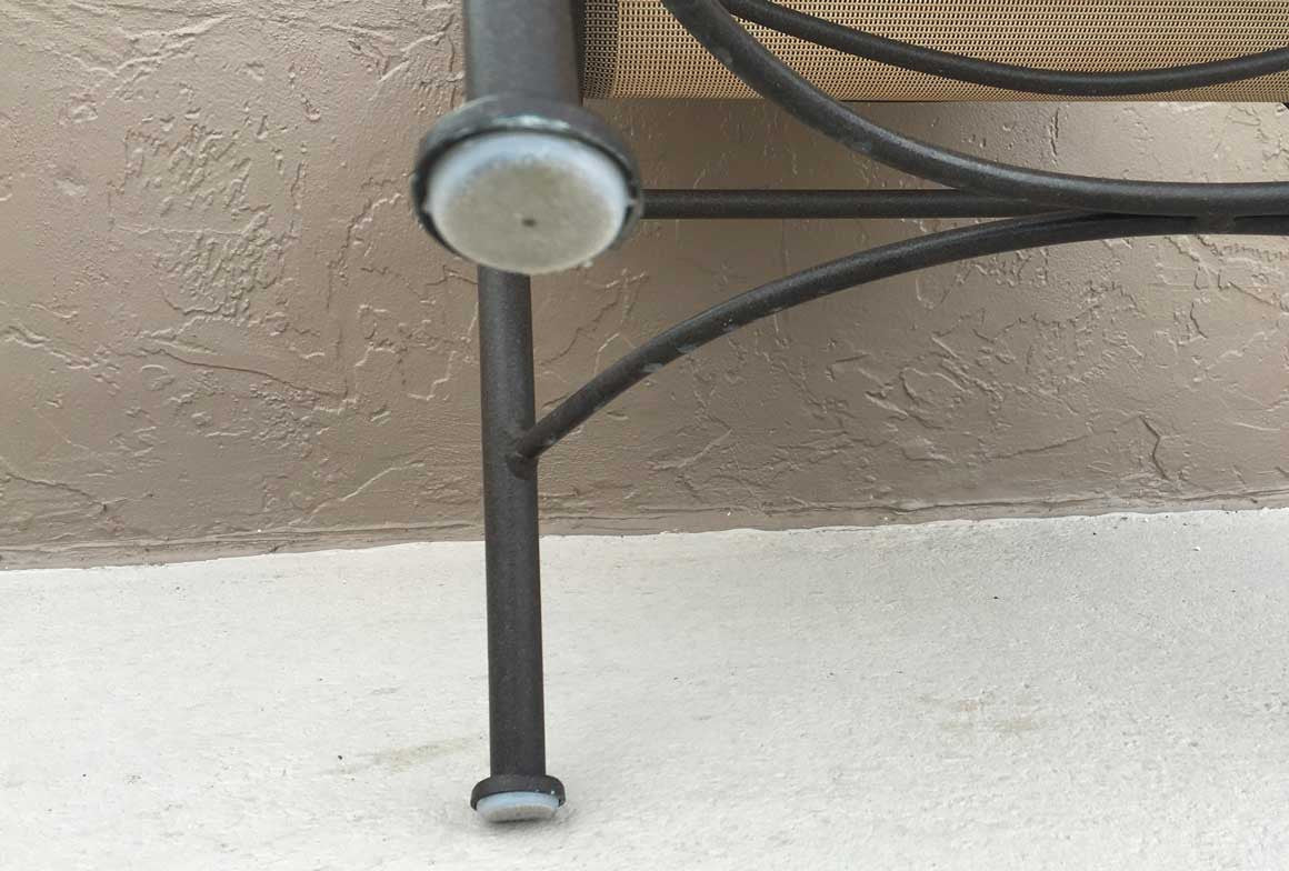 1 1 2 Quot Deluxe Wrought Iron Chair Glide White Item 30
