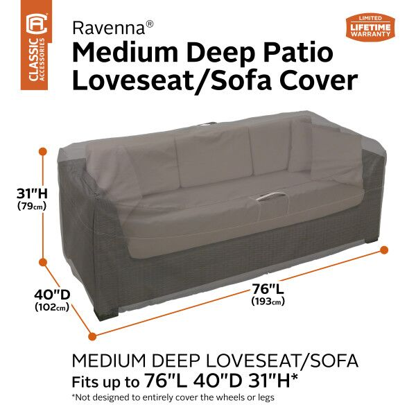 Ravenna Deep Seated Patio Loveseat Cover