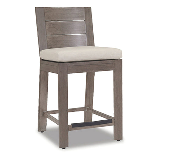 Laguna Counter Stool with cushions in Canvas Flax