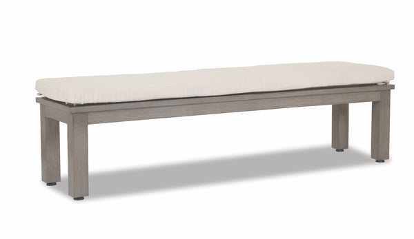Laguna Dining Bench with Canvas Flax Cushion
