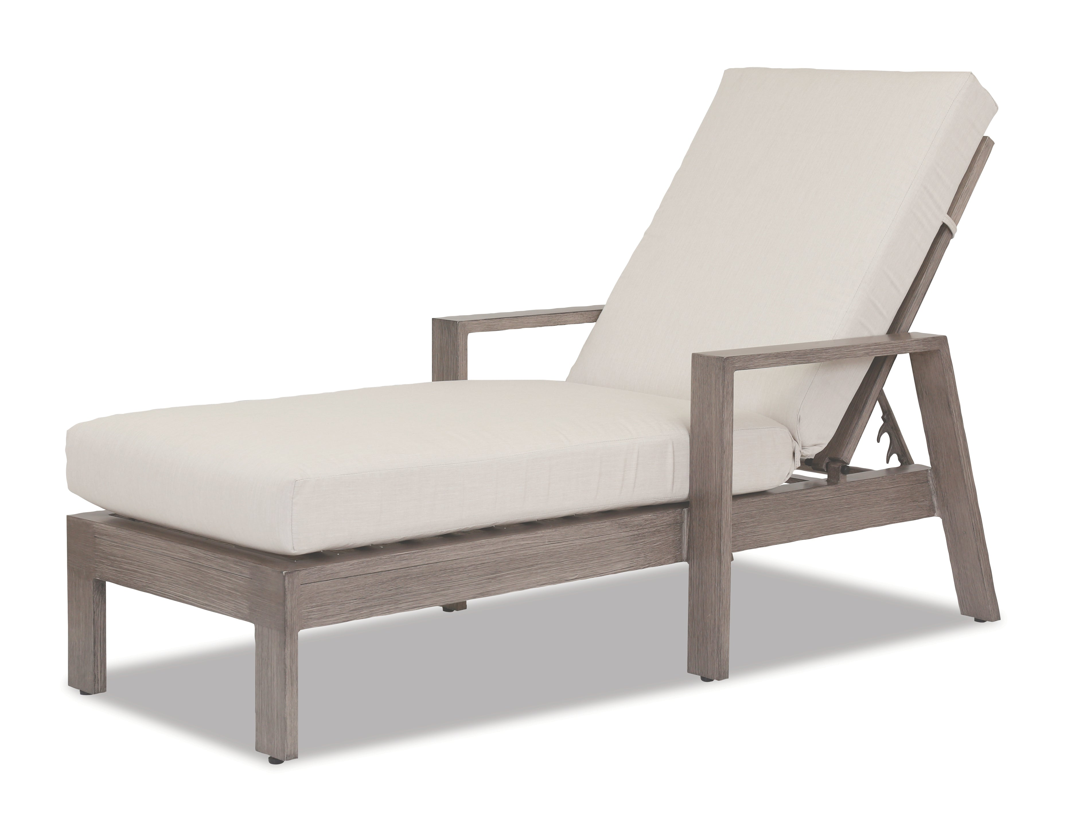 Laguna Chaise Lounge with cushions in Canvas Flax