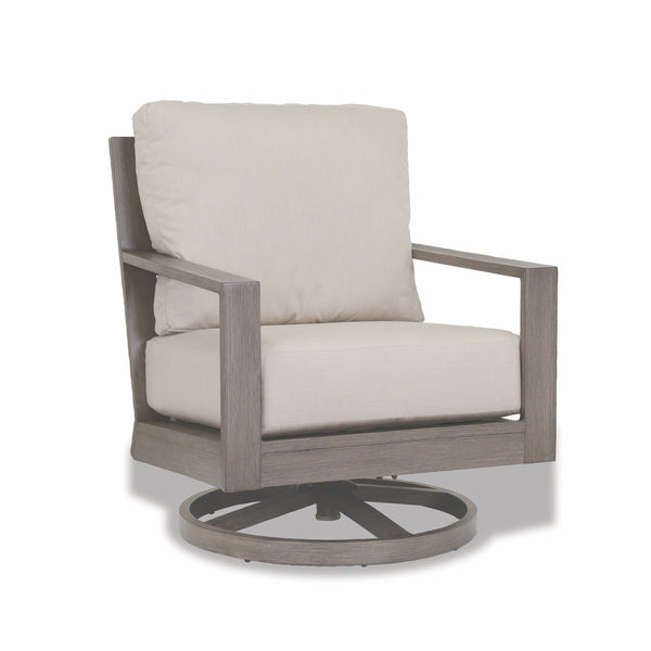 Laguna Swivel Club Rocker with cushions in Canvas Flax