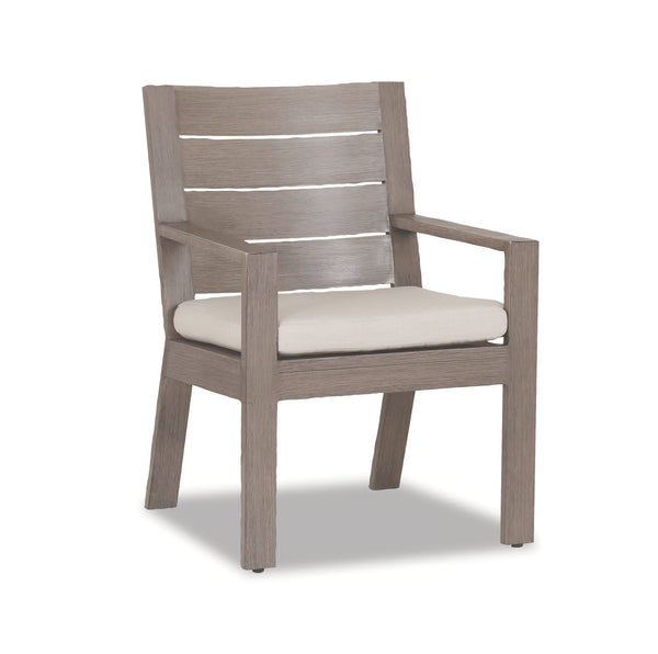 Laguna Dining Chair with cushions in Canvas Flax