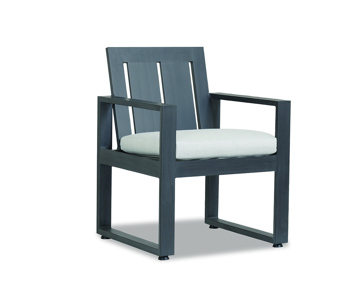 Redondo Dining Chair with cushions in Cast Silver