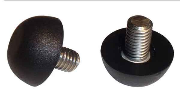 "6MM x Standard Thread with 1/2"" Long Stainless Steel Threaded Stud Adjustable Glide 