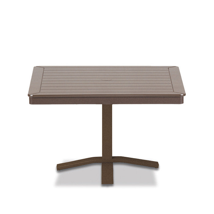 "Telescope Casual MGP 36"" Square Chat Height Table with Pedestal Base - 22""H"